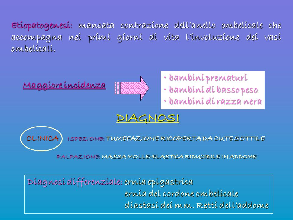 CLINICA ISPEZIONE: TUMEFAZIONE RICOPERTA DA CUTE SOTTILE