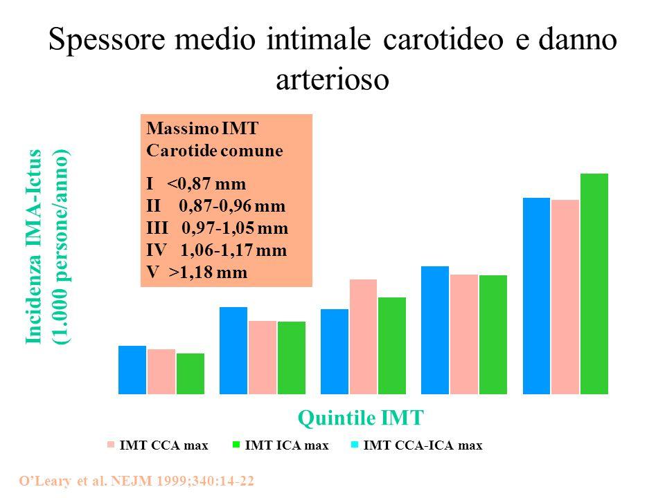 Spessore medio intimale carotideo e danno arterioso