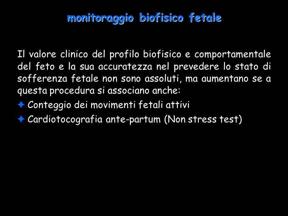 monitoraggio biofisico fetale