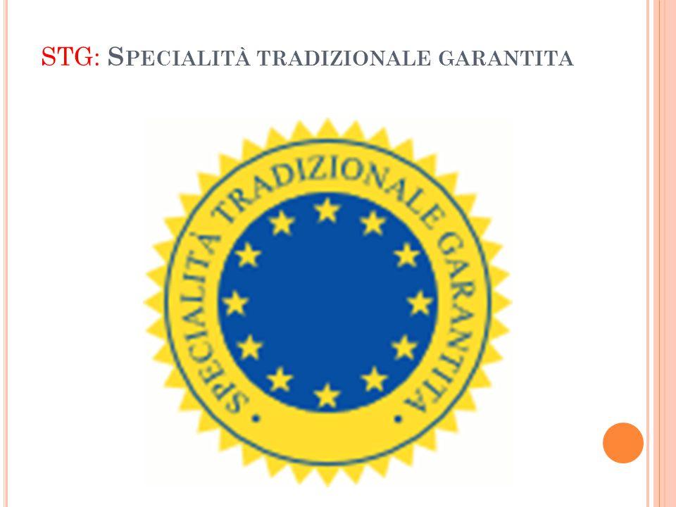 STG: Specialità tradizionale garantita