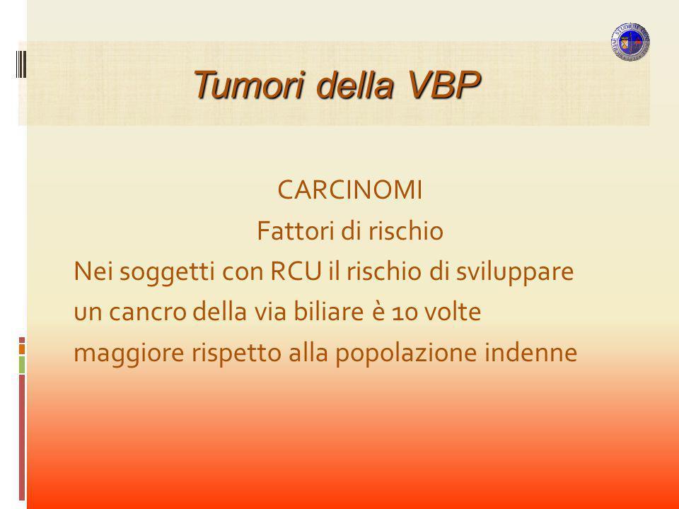 Tumori della VBP CARCINOMI Fattori di rischio