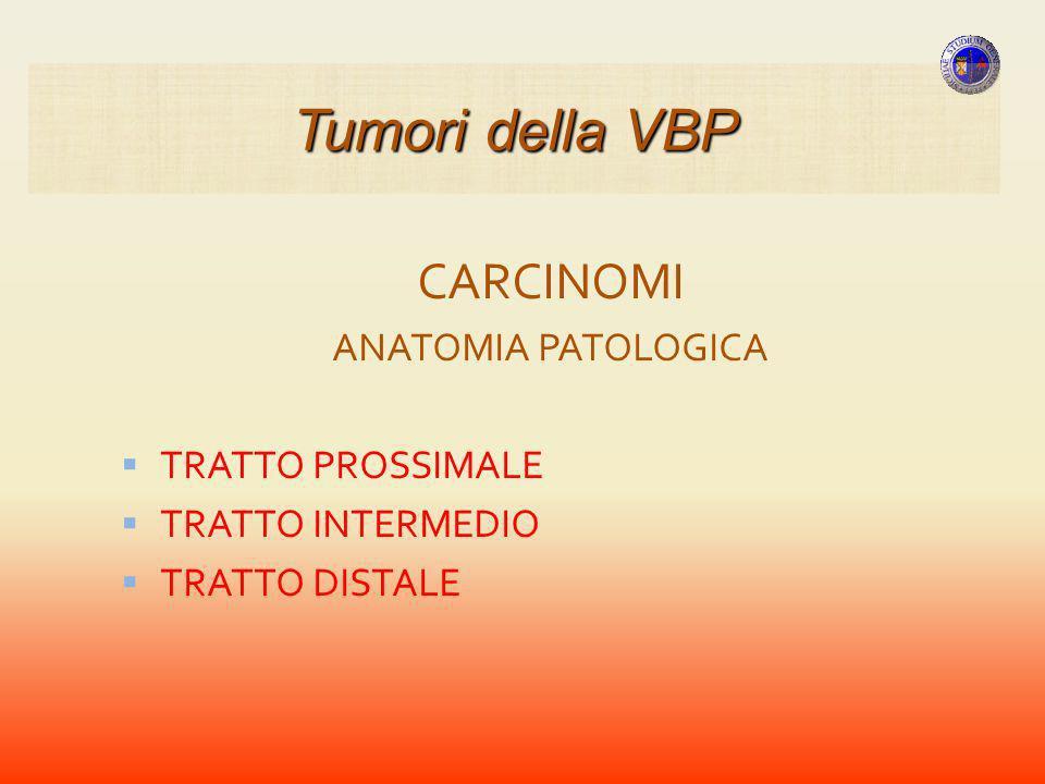 Tumori della VBP CARCINOMI ANATOMIA PATOLOGICA TRATTO PROSSIMALE