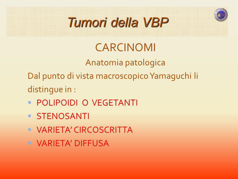 Tumori della VBP CARCINOMI Anatomia patologica