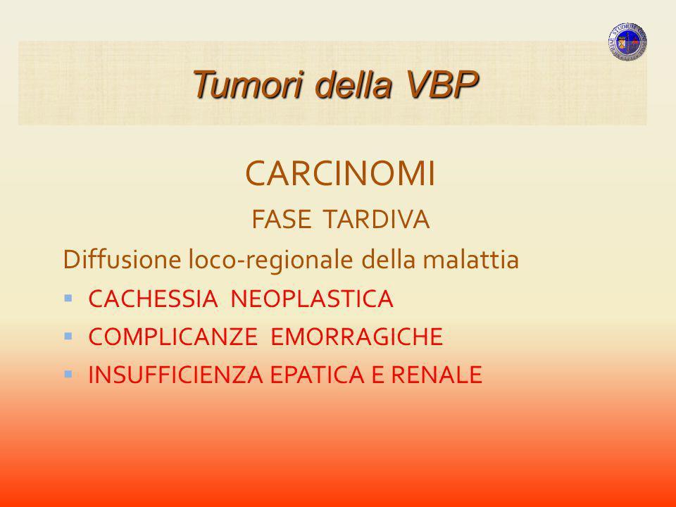 Tumori della VBP CARCINOMI FASE TARDIVA