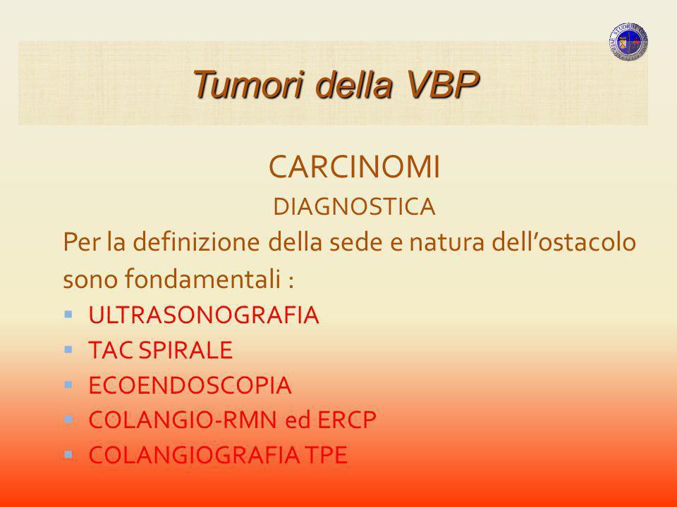 Tumori della VBP CARCINOMI