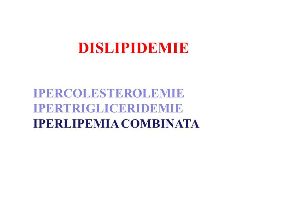 DISLIPIDEMIE IPERCOLESTEROLEMIE IPERTRIGLICERIDEMIE