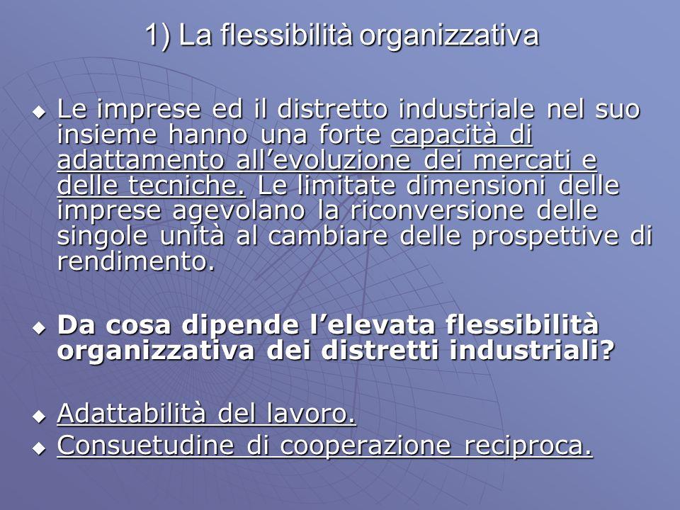 1) La flessibilità organizzativa