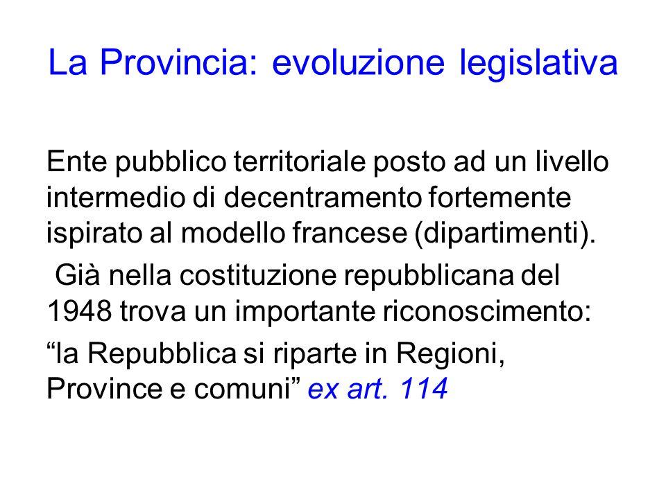 La Provincia: evoluzione legislativa