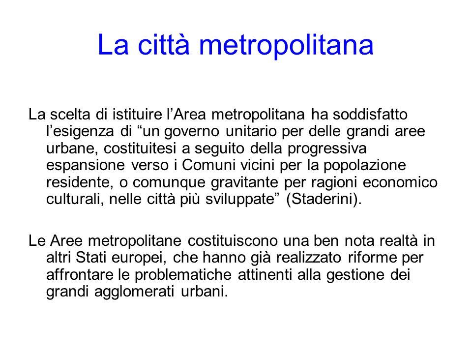 La città metropolitana