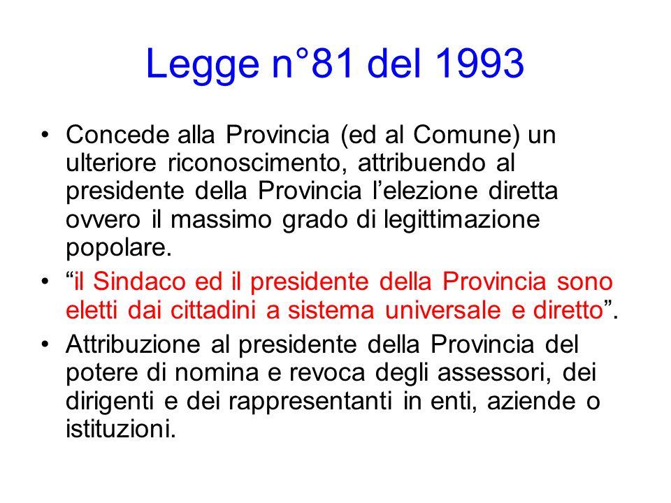 Legge n°81 del 1993