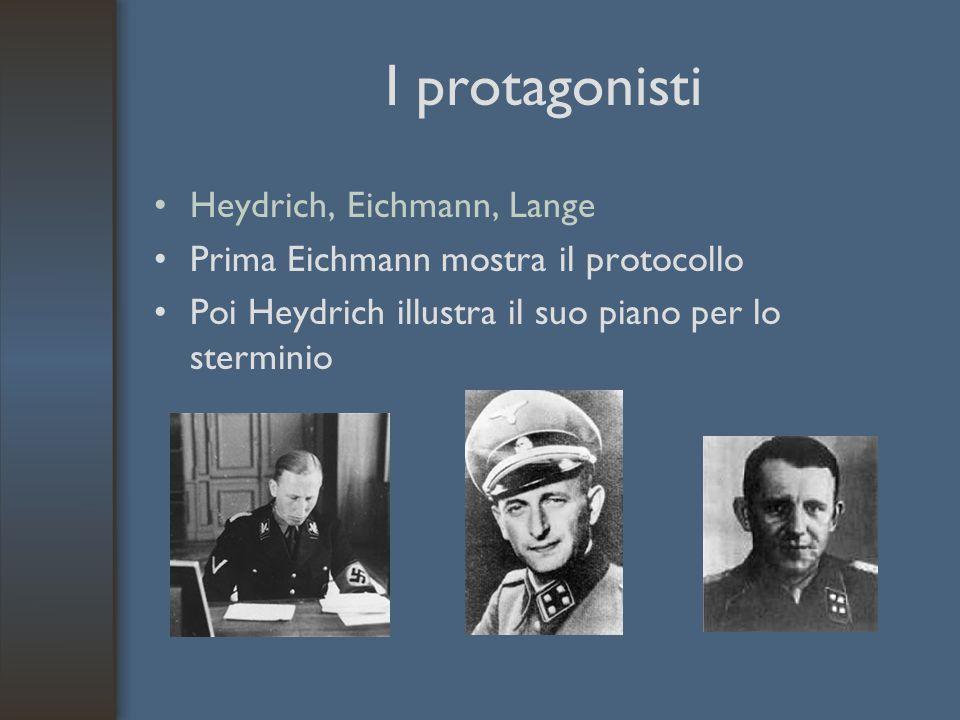 I protagonisti Heydrich, Eichmann, Lange