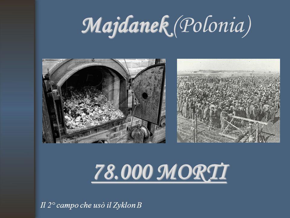 Majdanek (Polonia) 78.000 MORTI Il 2° campo che usò il Zyklon B