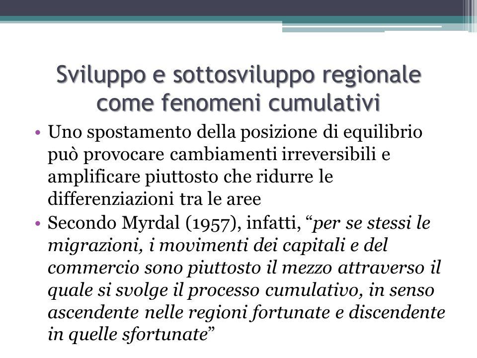 Sviluppo e sottosviluppo regionale come fenomeni cumulativi