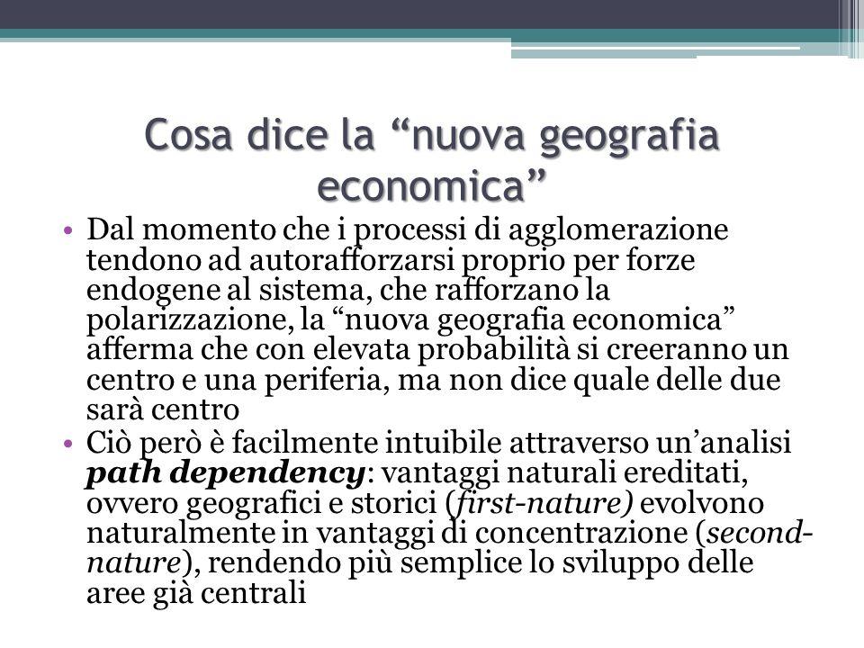 Cosa dice la nuova geografia economica