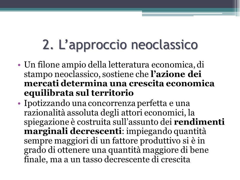 2. L'approccio neoclassico