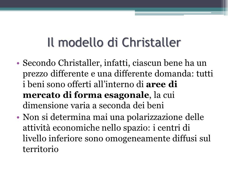Il modello di Christaller