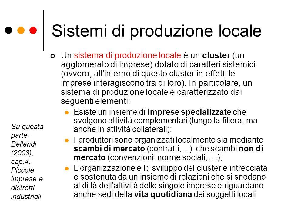Sistemi di produzione locale