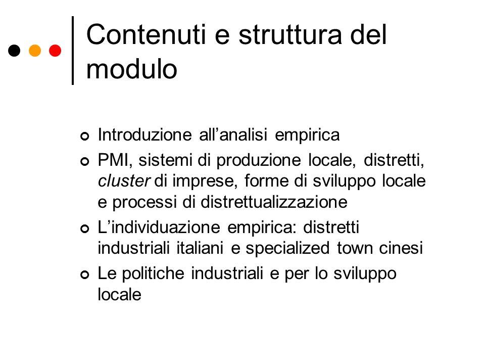 Contenuti e struttura del modulo