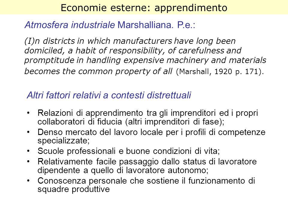 Economie esterne: apprendimento