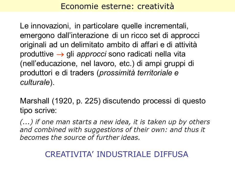 Economie esterne: creatività