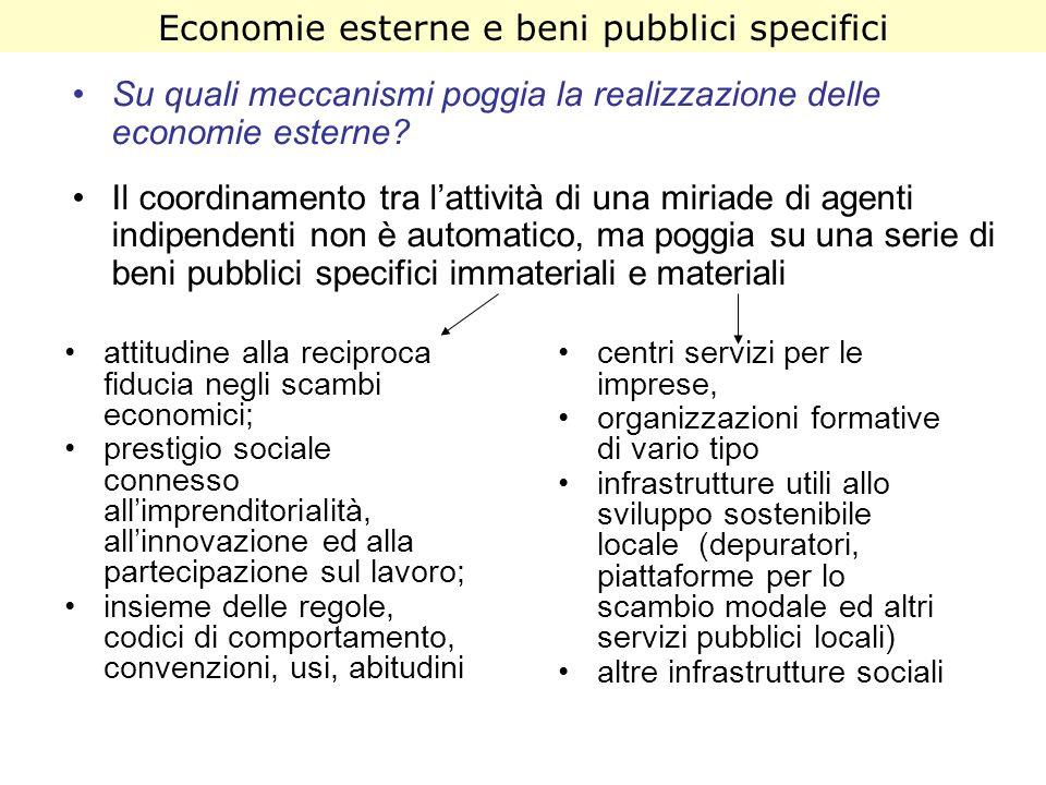 Economie esterne e beni pubblici specifici