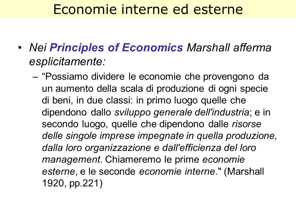 Economie interne ed esterne