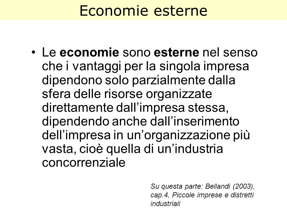 Economie esterne