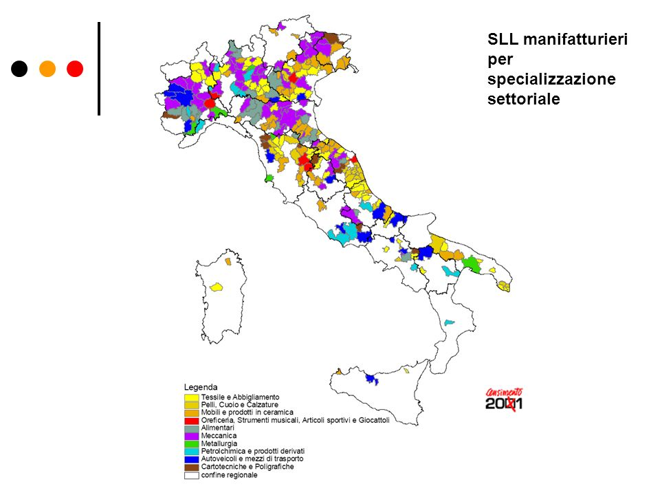 SLL manifatturieri per specializzazione settoriale