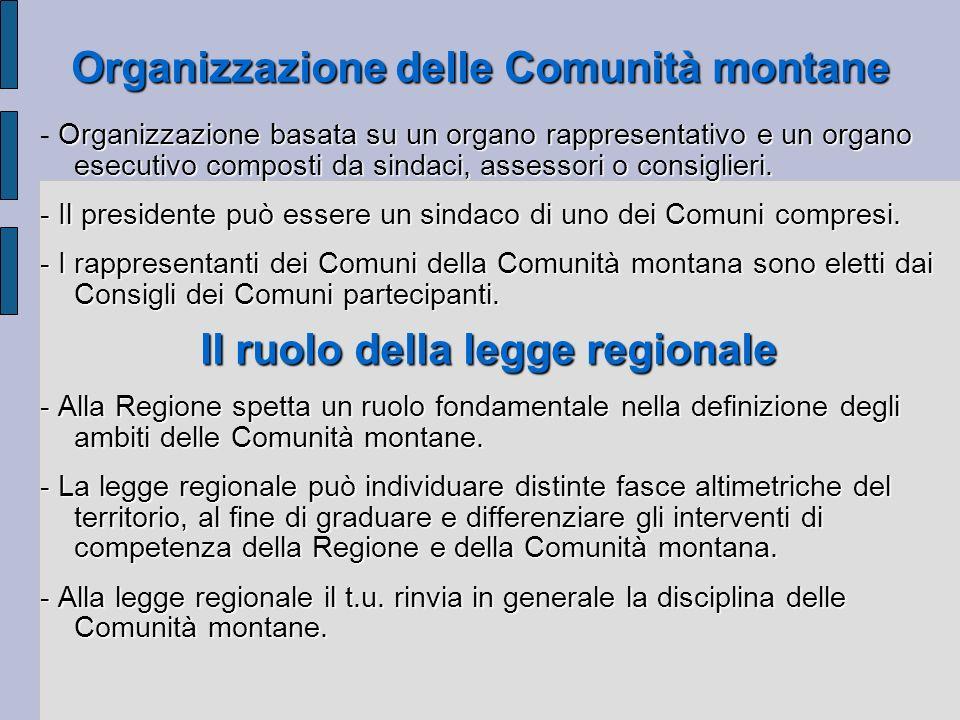 Organizzazione delle Comunità montane