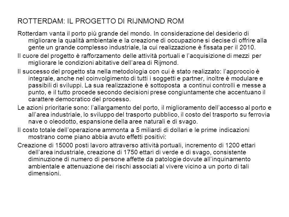 ROTTERDAM: IL PROGETTO DI RIJNMOND ROM