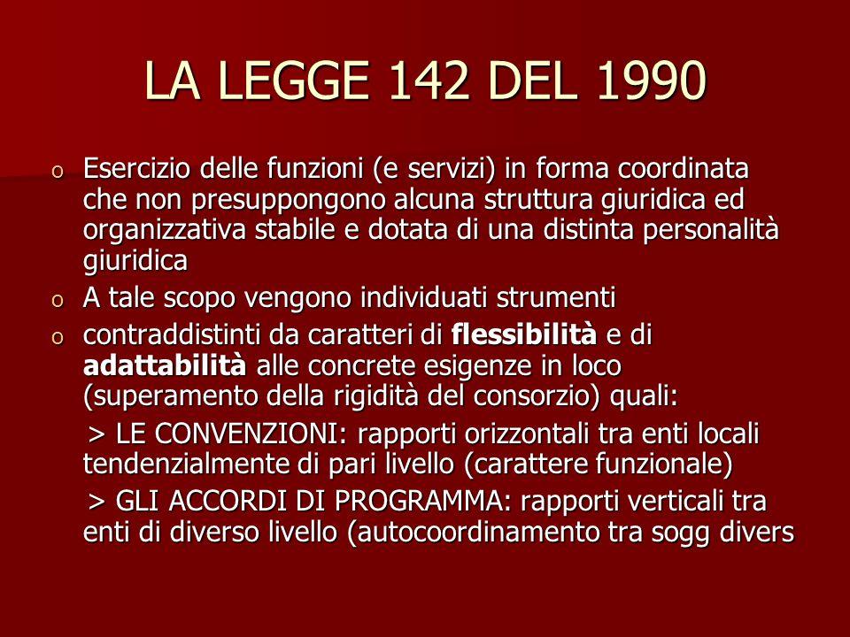 LA LEGGE 142 DEL 1990