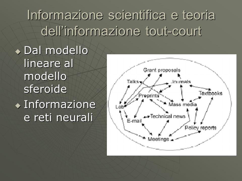 Informazione scientifica e teoria dell'informazione tout-court
