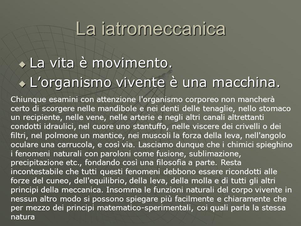 La iatromeccanica La vita è movimento.