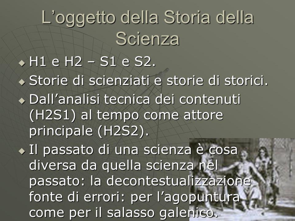 L'oggetto della Storia della Scienza