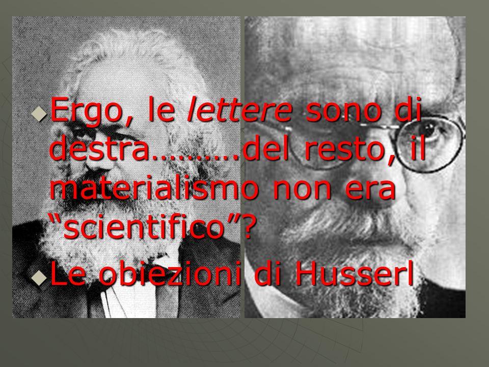 Le obiezioni di Husserl