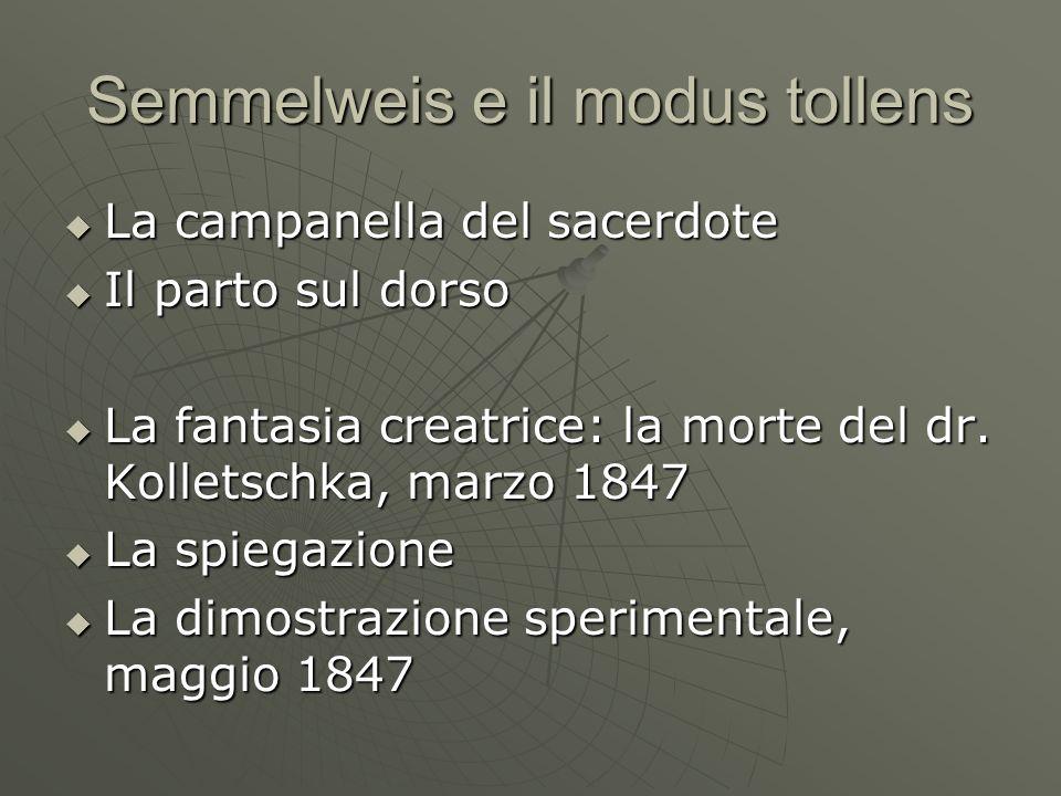 Semmelweis e il modus tollens