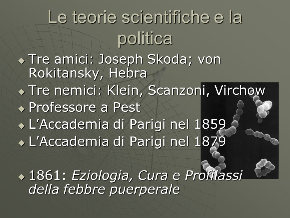 Le teorie scientifiche e la politica