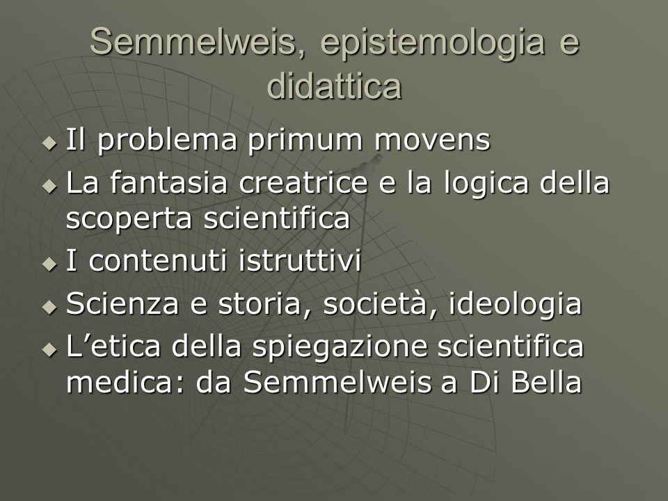 Semmelweis, epistemologia e didattica