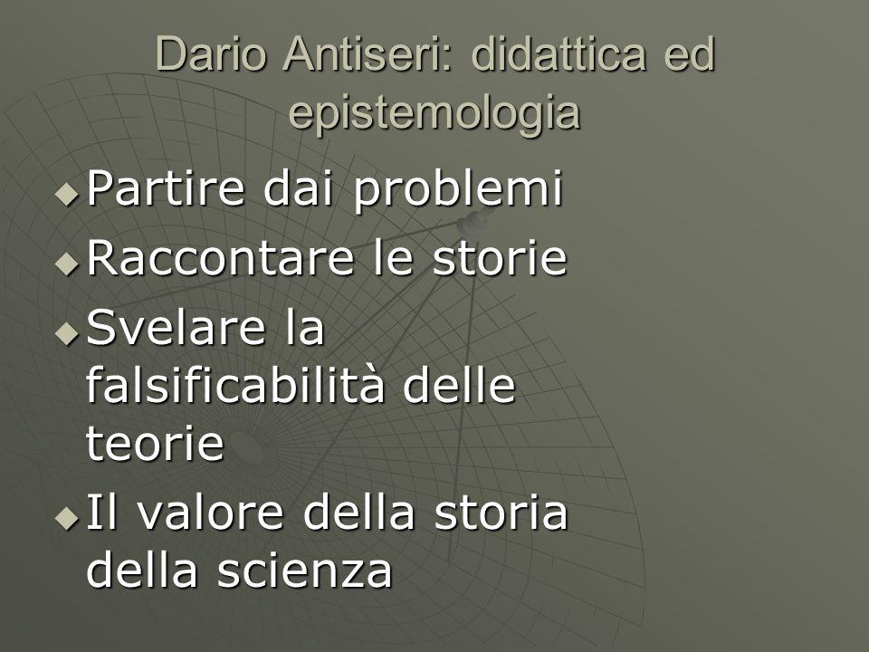Dario Antiseri: didattica ed epistemologia