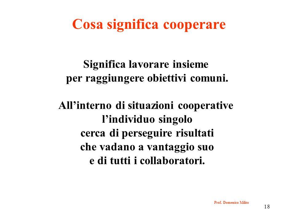 Cosa significa cooperare