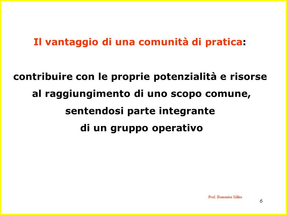 Il vantaggio di una comunità di pratica: