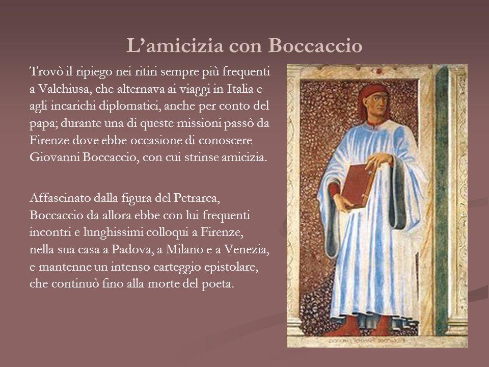 L'amicizia con Boccaccio