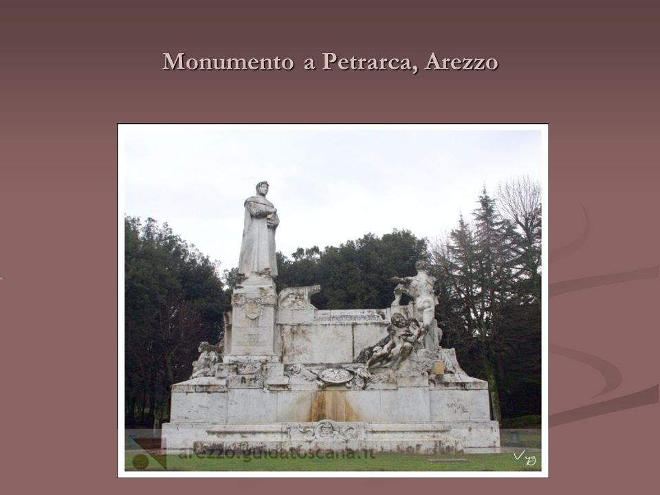 Monumento a Petrarca, Arezzo