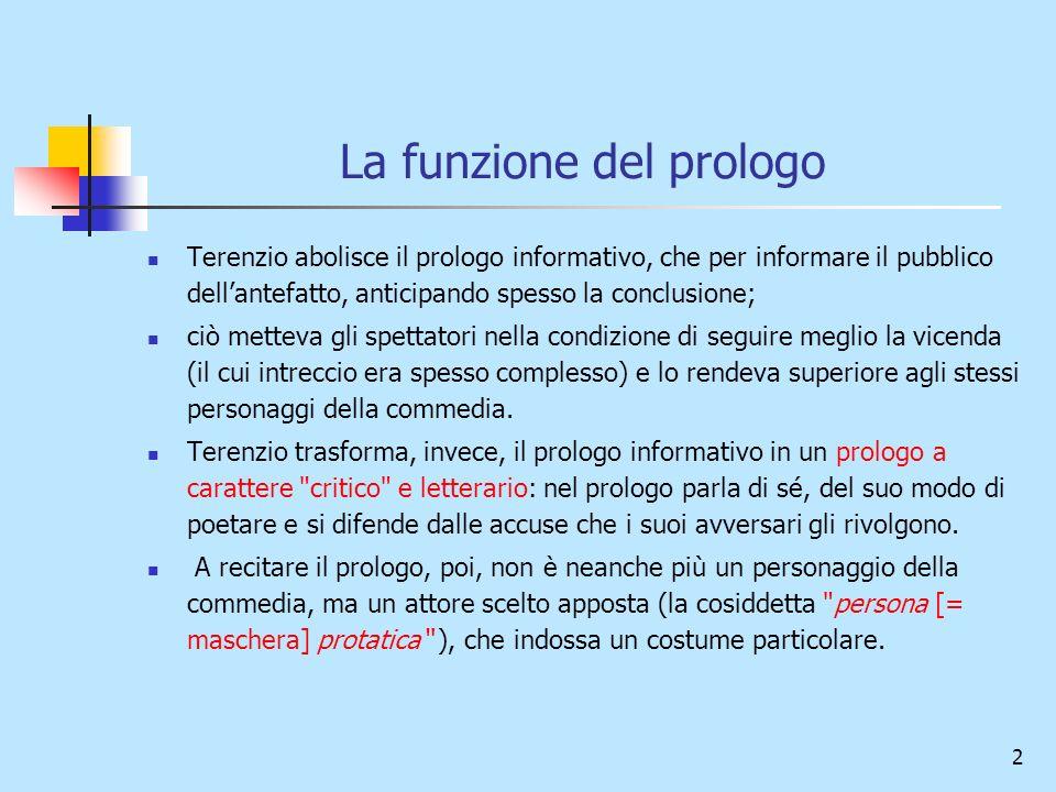 La funzione del prologo