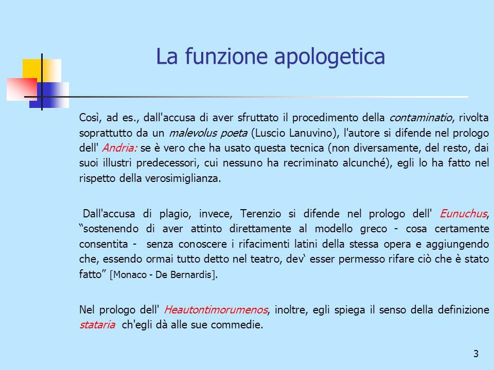 La funzione apologetica