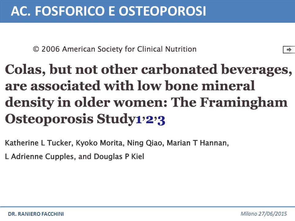 AC. FOSFORICO E OSTEOPOROSI