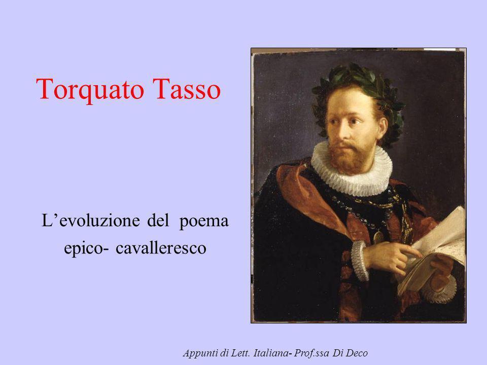 L'evoluzione del poema epico- cavalleresco