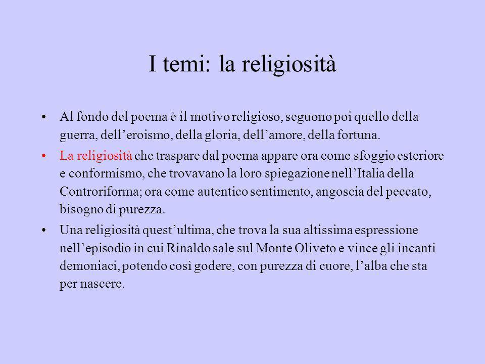 I temi: la religiosità