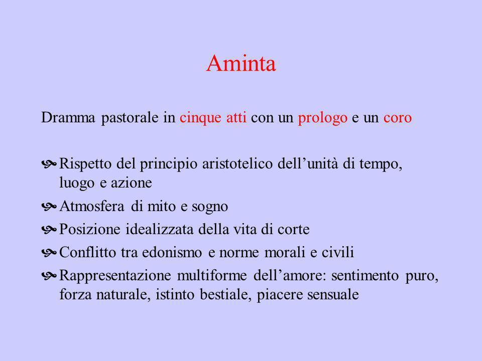 Aminta Dramma pastorale in cinque atti con un prologo e un coro