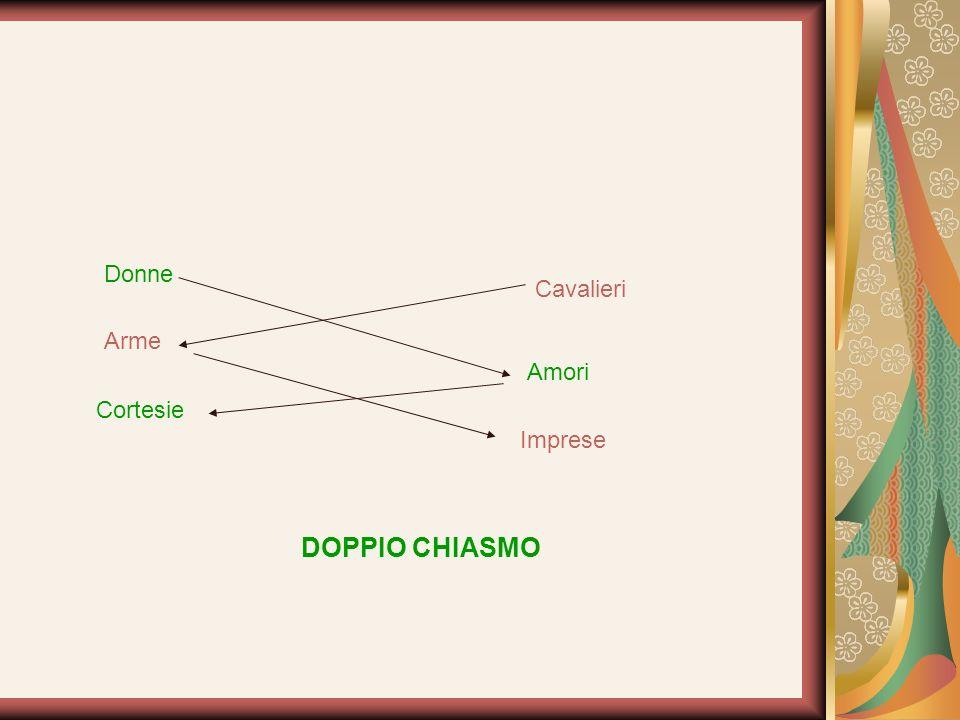 Donne Cavalieri Arme Amori Cortesie Imprese DOPPIO CHIASMO